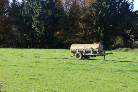 Slurry tank left behind in the field