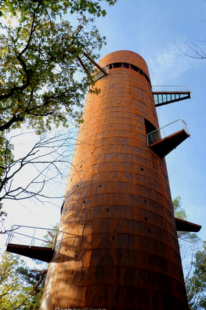 Iron tower in the Netherlands nearby the village Appelscha