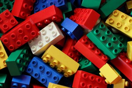 multi colored duplo brick in a box