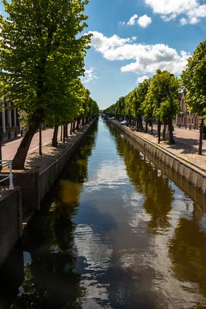 Balk beautiful village in the Netherlands, province Friesland, region Gaasterland Stock Photo
