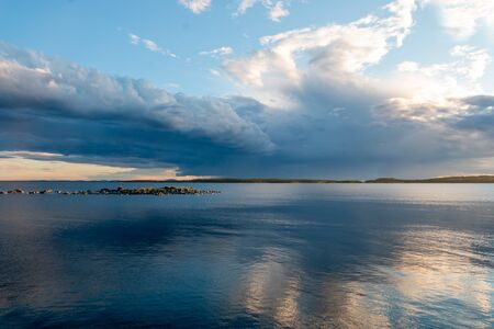 Beautiful seascape in east Sweden at the Gulf of Bothnia at the Hornslandet peninsula