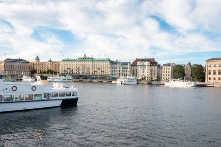 Stockholm in Sweden a tourist attraction in Scandinavia with nice museums and beautiful buildings 스톡 콘텐츠