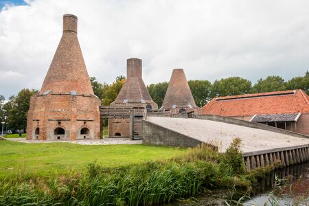 Complete restored lime kiln in the village Dedemsvaart the Netherlands, it was in use in the 19 century for making quick lime out of shells, with peat as burning fuel