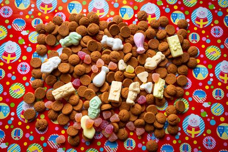 Traditional candy with tumtum and peppernuts for the dutch St. Nicholas' Day on December the fifth. Typical Dutch folklore