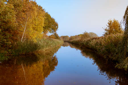 Autum photo of a canal called