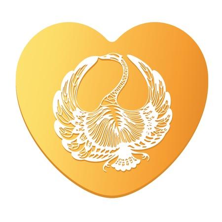 Swan Symbol of Love Vector