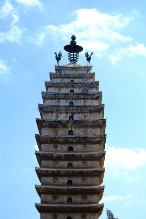 Dongsi temple pagoda in yunnan province Stock Photo - 18886893