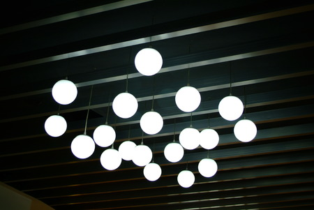 droplight: Lamp on the ceiling Stock Photo