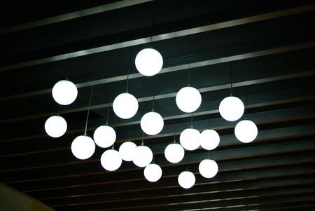 droplight: Lampada sul soffitto Archivio Fotografico