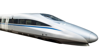 black train: High speed train isolated