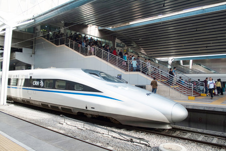 Chinese new highspeed train in beijing Editorial
