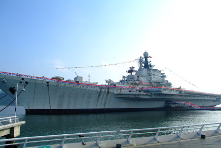 soldier fish: Warship in the Bay  in china
