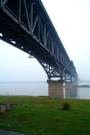 yangtze river: jiujiang yangtze river suspension bridge