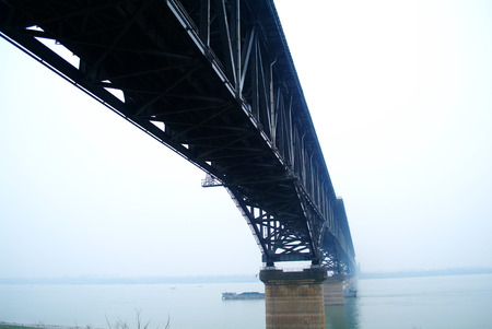 yangtze river: jiujiang yangtze river suspension bridge