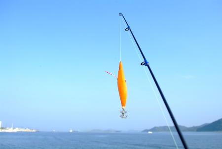 trawl: Fish hook and fish rod