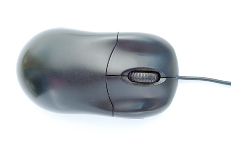 scrollwheel: Black computer mouse