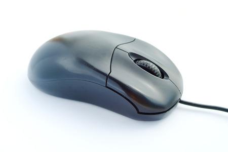 operating key: Black computer mouse