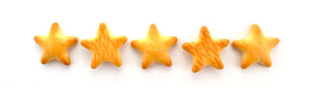 shaped: Star shaped biscuits