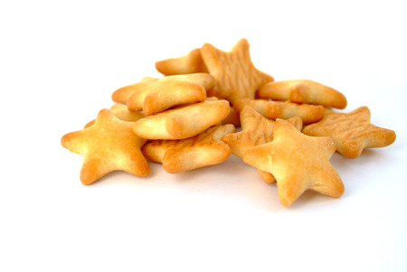 titbits: Star shaped biscuit Stock Photo