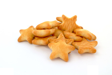 biscuits: Five star Biscuits Stock Photo