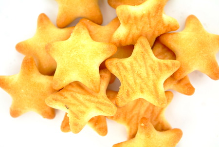 biscuts: Five star Biscuits Stock Photo