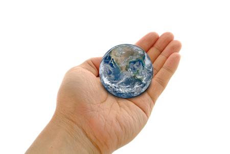 Hand holding a globe 版權商用圖片