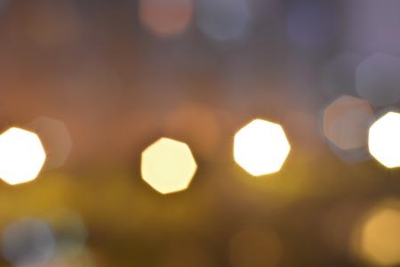 heptagon: Photo of bokeh lights on black background