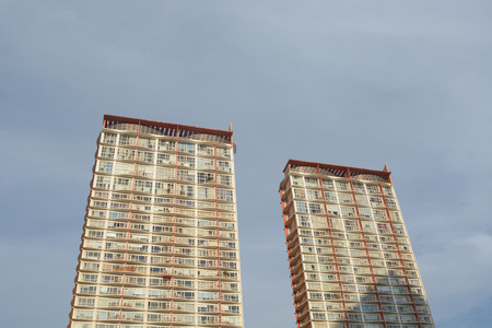 rise: High Rise Apartment Building Editorial