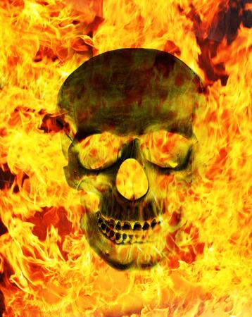 fire skull: Fire skull