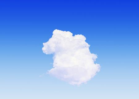 climatology: Single cloud Stock Photo