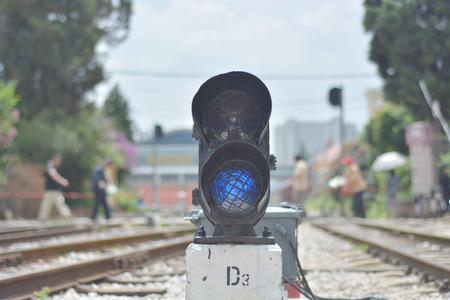 crossway: Railway point signal lamp