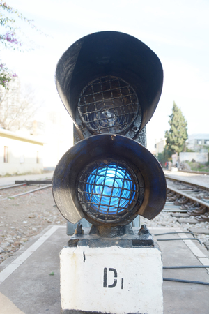 crossway: Railway  traffic light Editorial