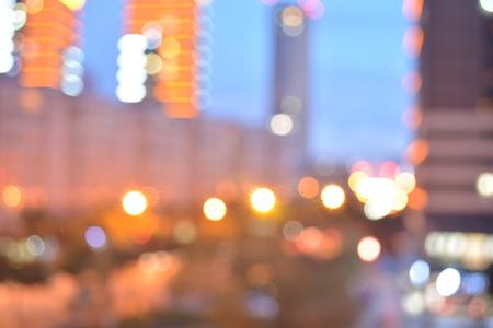 city background: city night light, Bokeh background