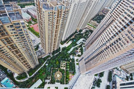 高層寫字樓和公寓樓 版權商用圖片 - 45623726
