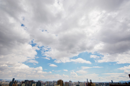 apparent: Capital of Yunnan Province, the city scenery under the cloud