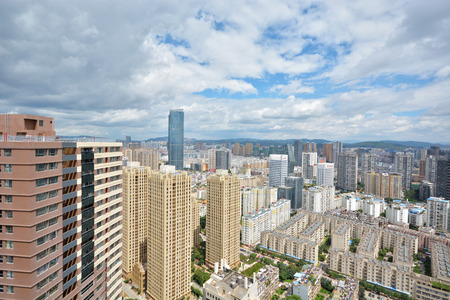 apparent: One of the largest city in Southwest China, Kunming cityscape