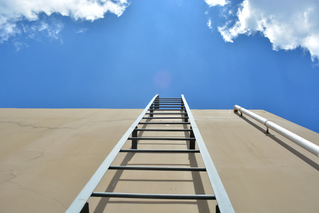 rungs: Ladder to the cloud blue Sky