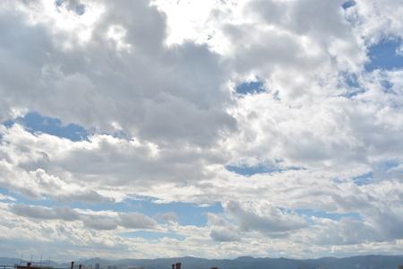 apparent: blue sky horizon