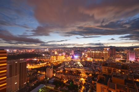big scenery: sunset scenery in big city , china Stock Photo