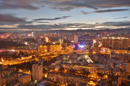 big scenery: Dusk scenery in big city, china. Editorial
