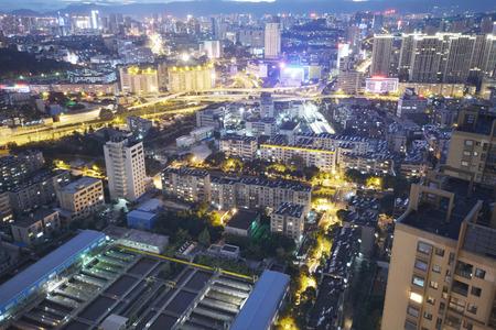 nightscape: large city nightscape