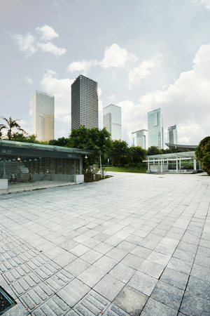 Modern building in shenzhen city