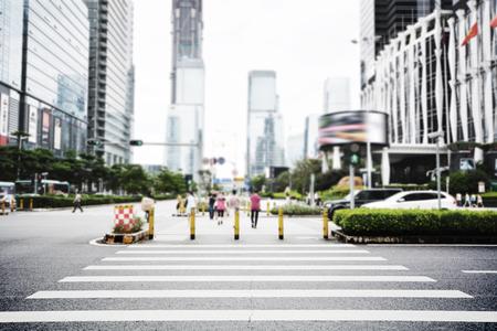 現代的街景在深圳市,中國