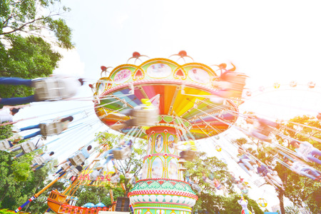marry go round: swing seat exciting amusement ride