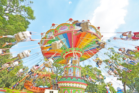 chain swing ride: swing seat exciting amusement ride