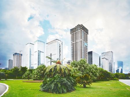 Skyline of Shenzhen City,