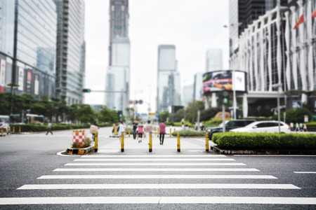 modern streetscape in shenzhen city,china Stock Photo