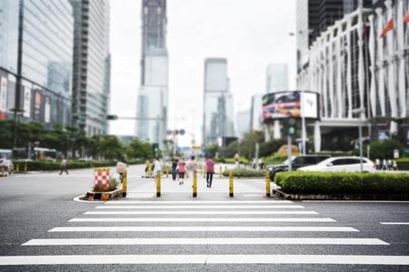 zebra crossing: modern streetscape in shenzhen city,china Stock Photo