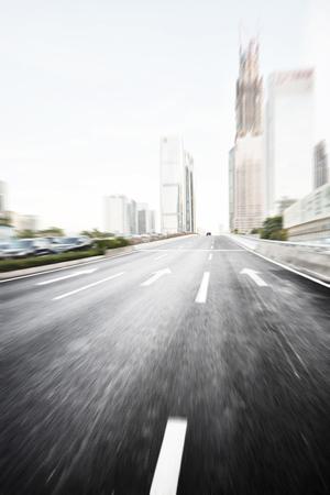 speed road in modern city