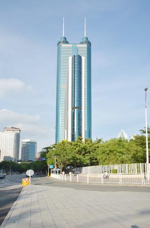 blackandwhite: Shenzhen, China. Shun Hing Square, also named Diwang Building in Shenzhen, is a 384-metre-tall skyscraper in Shenzhen